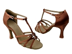SERA1120 Dark Tan Satin